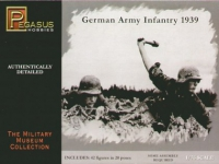 PEGASUS 7499 1:76 GERMAN INFANTRY 1939 (42) (PLASTIC KIT)