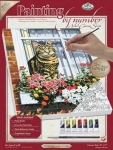 ROYAL PCS11 PBN CANVAS CAT IN THE WINDOW 9X12
