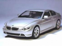WELLY 22457 2004 BMW 645 CI, SILVER OR BROWN/RED