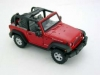WELLY 22489 CR 2007 JEEP WRANGLER RUBICON WITH OPEN ROOF RED OR BLACK