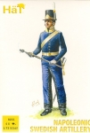 HAT 8231 1:72 NAPOLEONIC SWEDISH ARTILLERY (16 FIGURES & 4 CANNONS)