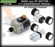 SCALEXTRIC C8146 MOTOR PACK (WITH 2 PINIONS)