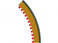 SCALEXTRIC C8228 RAD 2 OUTER BORDER/BAR 45DEG