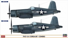 HASEGAWA 02032 1:72 F 4 U 1A CORSAIR COMBO (TWO KITS IN THE BOX)
