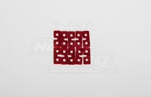 HOBBYKING METAL SERVO PLATE (RED) 10PCS