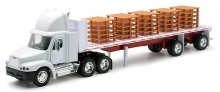 NEWRAY 10593 1:32 FREIGHTLINER CENTURY CLASS FLATBED W/PALLETS