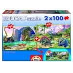 EDUCA 15620 2X100 DINO WORLD