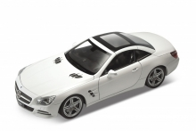 WELLY 24041 2012 MERCEDES BENZ SL500 HARD TOP, WHITE