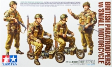 TAMIYA 35337 1:35 BRITISH PARATROOPERS W/SMALL MOTORCYCLE