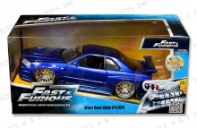JADA 97173 1:24 FF 2002 NISSAN SKYLINE BLUE BRIANS FAST AND FURIOUS