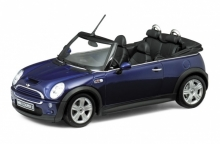 WELLY 22461 2003 MINI COOPER S CABRIO, BLUE