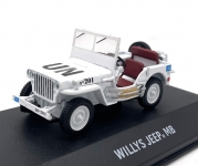 GREENLIGHT 86308 1:43 JEEP WILLYS (UNITED NATIONS DECORATION)