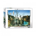 EUROGRAPHICS 6000-0846 SWANS REFLECTING ELEPHANTS 1000 PIEZAS PUZZLE