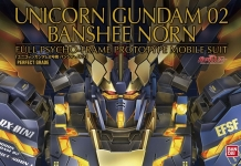 BANDAI 200641 GUNDAM UNICORN BANSHEE NORN 02 PG 1:60 SCALE MODEL KIT