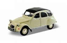 WELLY 43625 CITROEN 2CV CLOSED SOFTTOP DIECAST PULL BACK MODEL (RED. BEIGE OR GREY).