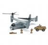 NEWRAY 21863 DIE CAST BELL BOEING V-22 OSPREY W- ARMORED VEHICLE SET