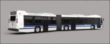 REALTOY RT8452 MTA NEW YORK CITY BUS (6) (PLASTIC)