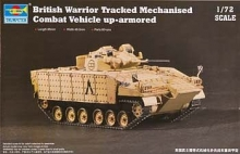 TRUMPETER 07102 1:72 BRITISH WARRIOR TRACKED MECHANIZED COMBAT VEHICLE UP-ARMORED