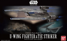 BANDAI 12184 STAR WARS 1:144 U-WING FIGHTER/TIE STRIKER ROGUE ONE