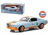 GREENLIGHT 12954 1:18 1967 SHELBY GT-500 GULF OIL - LIGHT BLUE WITH ORANGE ST