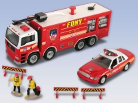 REALTOY RT8760 FDNY FIRE DEPT DIE CAST PLAYSET (15PC SET)
