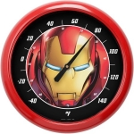 NJCORCE 46041 IRON MAN FACE LOGO 10 INCH OUTDOOR THERMOMETER