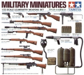 TAMIYA 35121 US INFANTERY WEAPONS 1:35