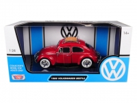 MOTORMAX 79558 1:24 1966 VOLKSWAGEN CLASSIC BEETLE - WITH REAR LUGGAGE RACK