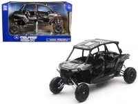 NEWRAY 57843C 1:18 POLARIS RZR XP 4 TURBO EPS - TITANIUM MATTE METALLIC
