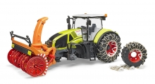 BRUDER 03017 CLAAS AXION 950 WITH SNOW CHAINS & SNOW BLOWER PLAYSETS