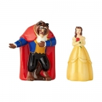 ENESCO 60010 BEAUTY AND THE BEAST BELLE AND BEAST SALT AND PEPPER SET