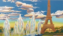 COLART 86285 EIFFEL TOWER, PARIS ACRYLIC PAINT BY NUMBER (11.5 PULGX15.5 PULG)