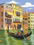COLART 86318 VENICE, ITALY (TOUR ON GONDOLA) ACRYLIC PAINT BY NUMBER (9 PULGX12 PULG)