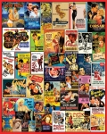 WHITEMOUNTAIN 1052 CLASSIC MOVIE POSTERS COLLAGE PUZZLE (1000PC)