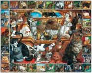 WHITEMOUNTAIN 135 WORLD OF CATS COLLAGE PUZZLE (1000PC)