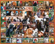 WHITEMOUNTAIN 141 WORLD OF DOGS COLLAGE PUZZLE (1000PC)