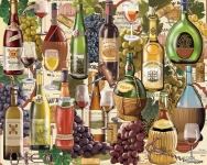 WHITEMOUNTAIN 798 WINE COUNTRY (BOTTLES) COLLAGE PUZZLE (1000PC)