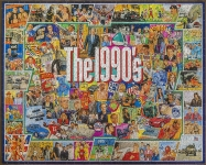 WHITEMOUNTAIN 959 THE 1990S EVENTS & FAMOUS PEOPLE COLLAGE PUZZLE (1000PC)