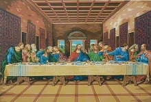 COLART 86236 THE LAST SUPPER ACRYLIC PAINT BY NUMBER (12PULGX16PULG)