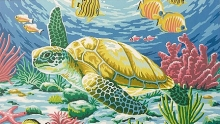 COLART 86300 SEA TURTLE (FISH & CORAL) ACRYLIC PAINT BY NUMBER (11.5PULGX15.5PULG)