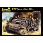 CAESAR 99 1:72 WWII GERMAN TANK RIDERS CAMOUFLAGE DRESS (32+)