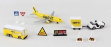 REALTOY 3871 SPIRIT AIRLINES A320 AIRPORT DIE CAST PLAYSET (10PC SET)