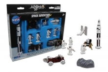 REALTOY 9117 APOLLO 11 50TH ANNIVERSARY LUNAR LANDING SPACE PLASTIC PLAYSET (9PC)