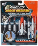 REALTOY 9123 SPACE SHUTTLE & 4 ROCKETS PLASTIC PLAYSET