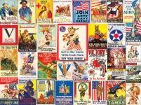 WHITEMOUNTAIN 1355 WORLD WAR I VINTAGE POSTERS COLLAGE PUZZLE (1000PC)