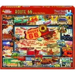 WHITEMOUNTAIN 747 ROUTE 66 COLLAGE (TRAVEL SIGNS, MAP/PLACES) PUZZLE (1000PC)