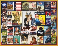 WHITEMOUNTAIN 864 WORLD WAR II VINTAGE POSTERS COLLAGE PUZZLE (1000PC)
