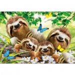 EDUCA 18450 500 PIEZAS SLOTH FAMILY SELFIE