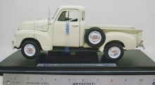 WELLY 19836 1953 CHEVROLET 3100 PICKUP 1:18 WHITE, BLUE OR CREAM