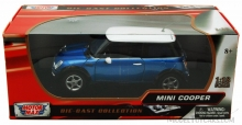 MOTORMAX 73114 2001 MINI COOPER BLACK OR METALLIC BLUE